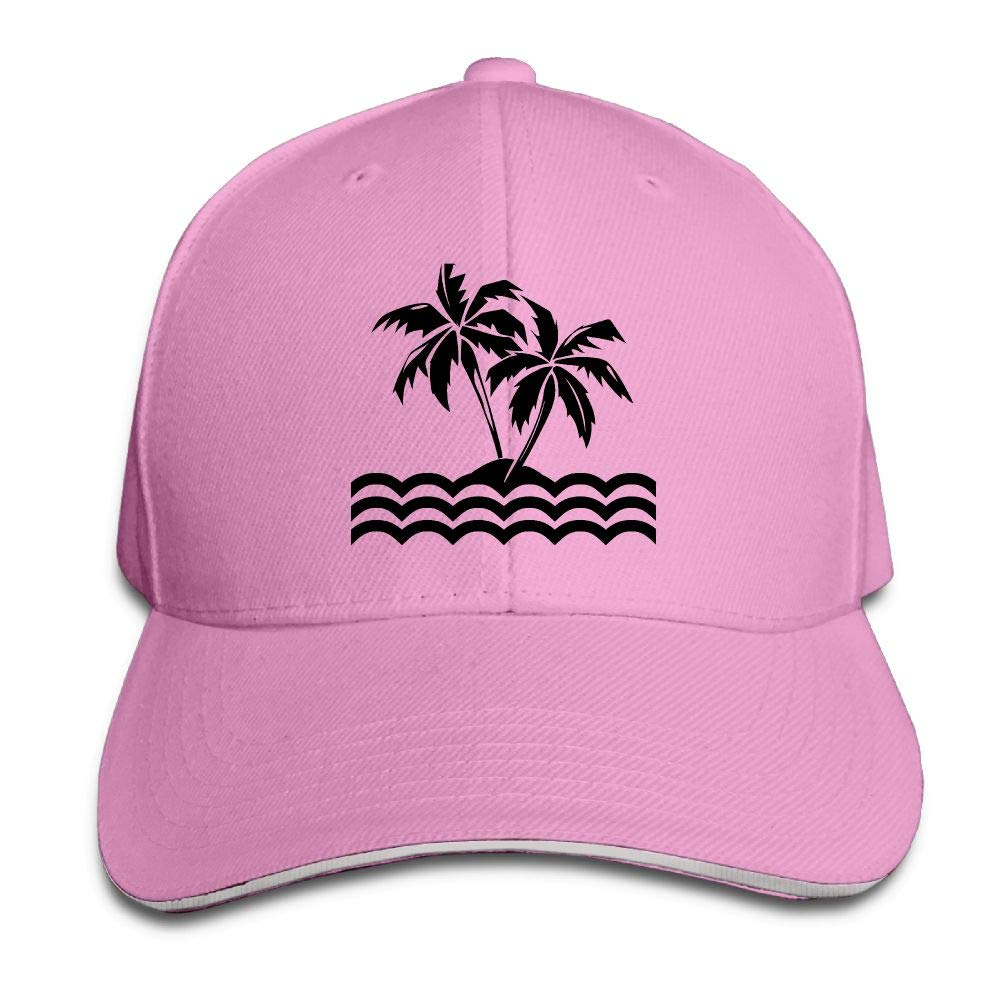 Madoling Palm Tree Tropical Island Mens Adjustable Baseball Cap