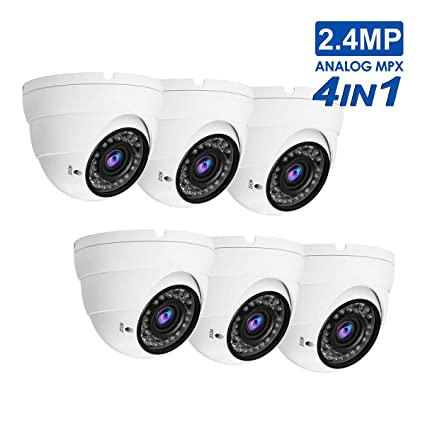 In//Outdoor 2.4MP 1080p  2.8mm Dome Security Camera CVI//TVI//AHD//CVBS 4-in-1