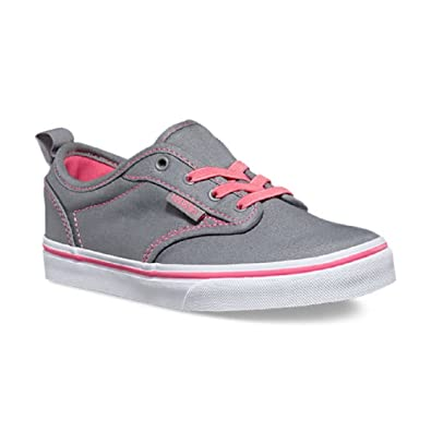 5a81868b9b Vans Girls Atwood Low Slip-On Canvas Gray Pink  Amazon.co.uk  Shoes ...