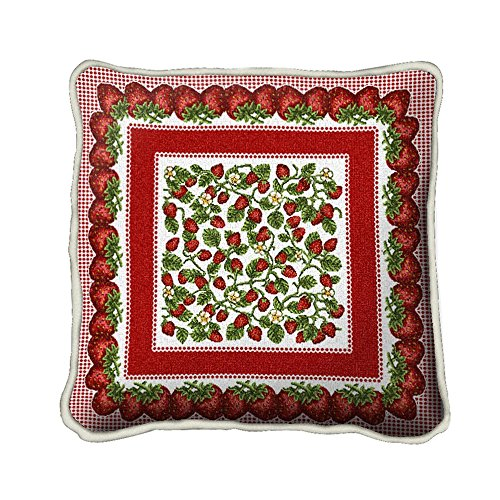 Festival Strawberry Tapestry (Strawberry Festival Pillow - 17 x 17 Pillow)