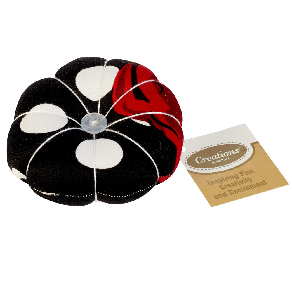 Creations 5 X 10 X 10 cm Red Rose Pin Cushion, Multi-Colour Korbond 190065