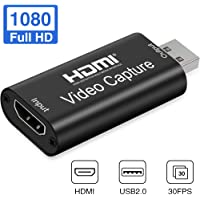 GOODAN Audio Video Capture Cards - HDMI to USB 2.0 - High Definition 1080p 30fps - Record Directly to Computer for…