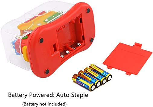 NEW Colorful Modern Pop Art Battery Operated Electric Stapler RS 3001 Automatic