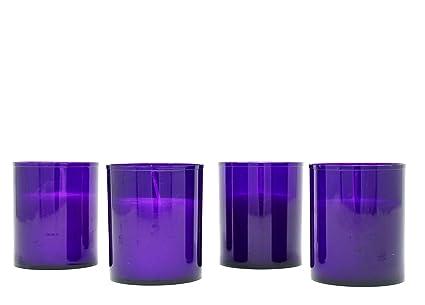 grande vente au rabais officiel coût modéré Coraz Home Lot de 4 Bougies en Plastique coloré pour Jardin ...