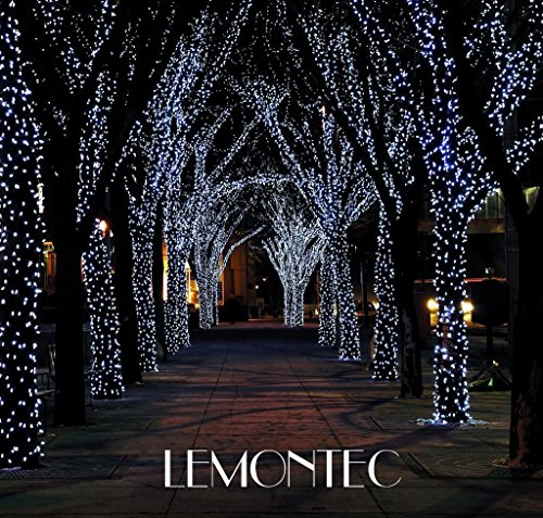 Lemontec Solar String Lights, 200 Led Holiday String Lighting Outdoor Solar Patio Lights Fit Chrismas Garden Wedding Party Landscape[White], 2 Pack 400 LED by Lemontec (Image #1)