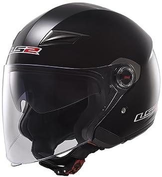 LS2 305692012M Casco Track Solid, Color Negro, Tamaño M
