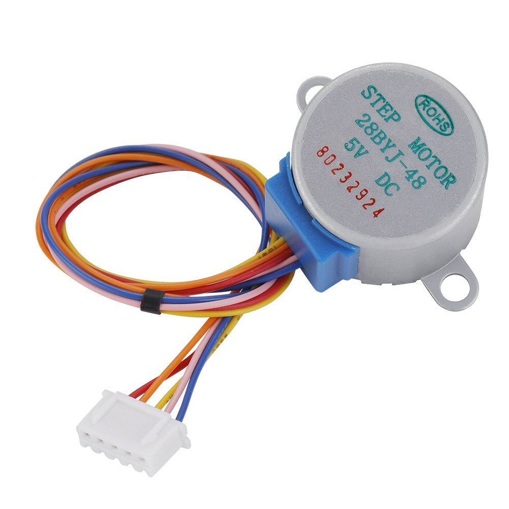 Stepper Motor 5 Pcs//Set 4-Phase 5-Wire DC Mini Reduction Stepper Motor 5V Low Noise
