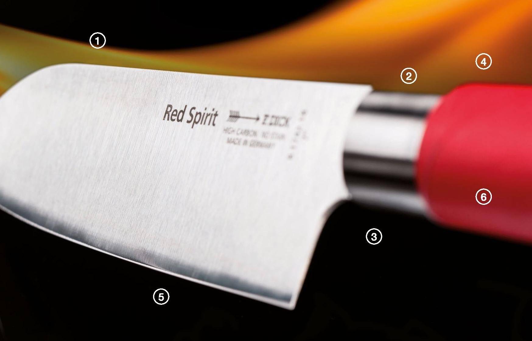 F. Dick Red Spirit 7'' Blade Usuba Vegetable Knife - Asian Inspired Chef Knife - Made In Germany by RED SPIRIT
