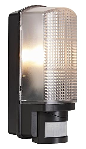Outdoor black bulkhead wall light with adjustable motion sensor by outdoor black bulkhead wall light with adjustable motion sensor by haysom interiors aloadofball Images