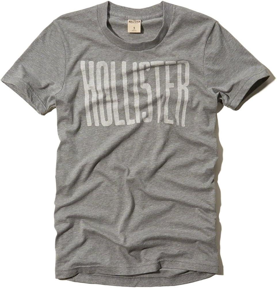 Hollister - Camiseta - para hombre Gris gris Medium: Amazon.es: Ropa y accesorios