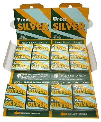200 Treet Silver Double Edge Razor Blades