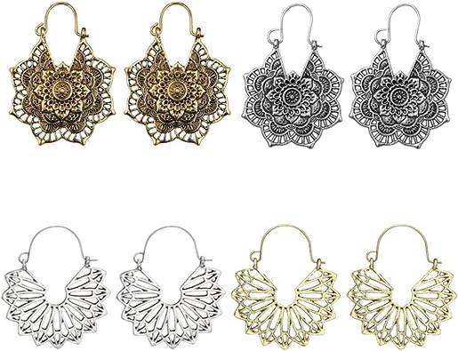 BOHO TASSEL DANGLE DROP EARRINGS Bohemian Gypsy Tribal Ethnic Jewellery Gift