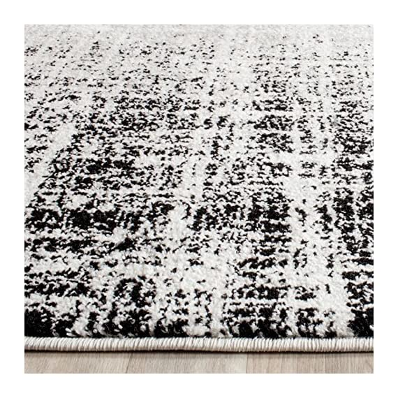 Safavieh Adirondack Collection ADR116A Silver Black Modern Abstract Distressed Runner - Choose from available sizes and shapes Choose from available colors Easy-care polypropylene material - living-room-soft-furnishings, living-room, area-rugs - 61%2Bge6 AL2L. SS570  -