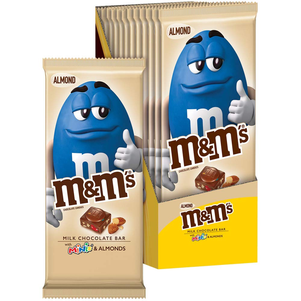 Amazon Com M M S Almond Minis Milk Chocolate Candy Bar 12 Count Of 3 9 Ounce Bar Each 46 8 Oz Grocery Gourmet Food
