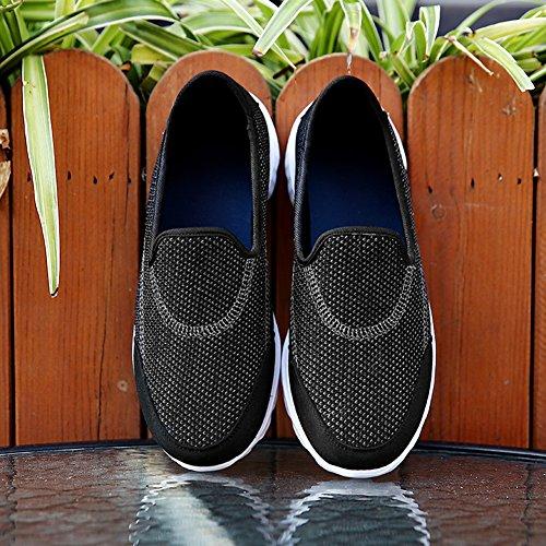 Scarpe Nero Mesh Sneakers Leggere Donna Da Slip Sportif Madaleno Respirabile Corsa On Casual ACqwAZ