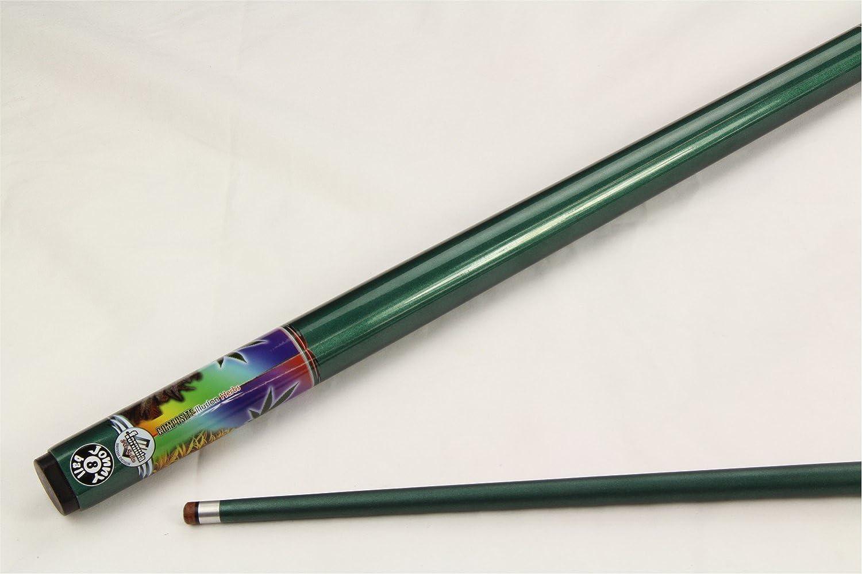 Jonny 8/Ball 57/inch Pot da hierba verde cannabis 2pieza grafito piscina Snooker Cue