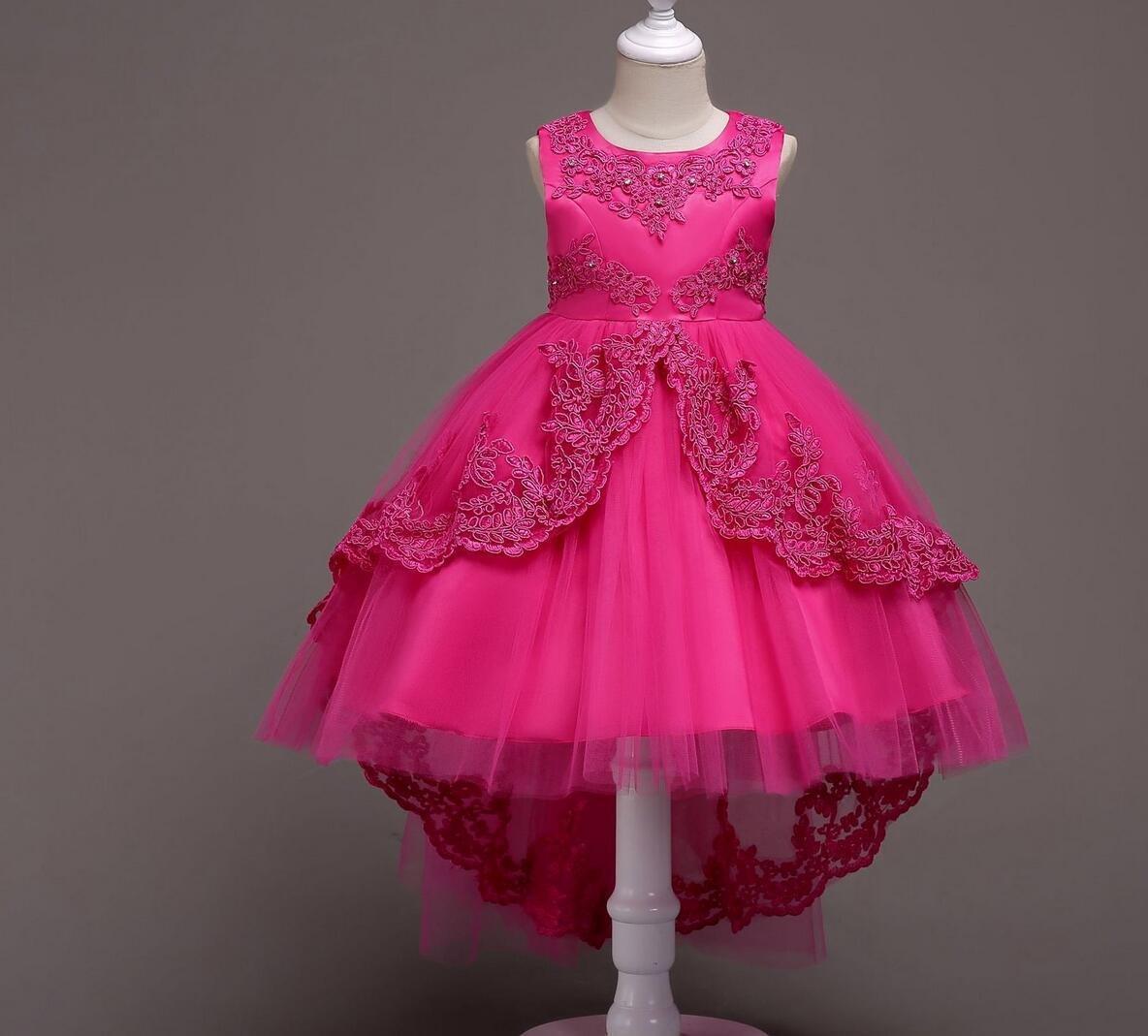 Vestidos para niñ os Vestidos para niñ os Vestidos para niñ os Vestidos para niñ os Vestidos para Damas de Honor, Rose Red, 8 SMACO-Vestidos de niñas