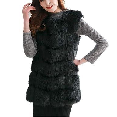 ea1709233f9 Women Import Fox Fur Vest Coat Warm Fur Vest Coat Women Long Faux Fur Vest  Winter
