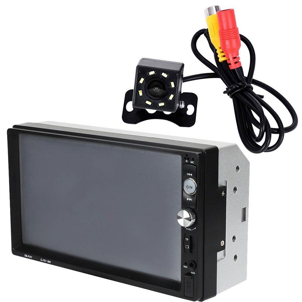 TOOGOO Más Nuevo 7 Pulgadas LCD Autoradio Cl-7011 2 DIN Reproductor de Mp5 de Coche con Espejo Android Bluetooth Multimedia Radio de Coche Audio Estéreo FM ...