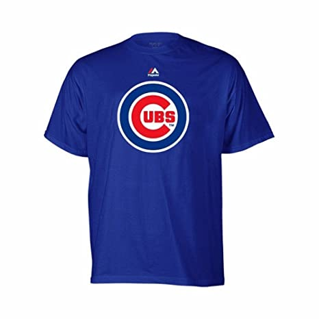 a805d057e13 Majestic Chicago Cubs Youth Blue Primary Team Logo T-Shirt Medium 10-12
