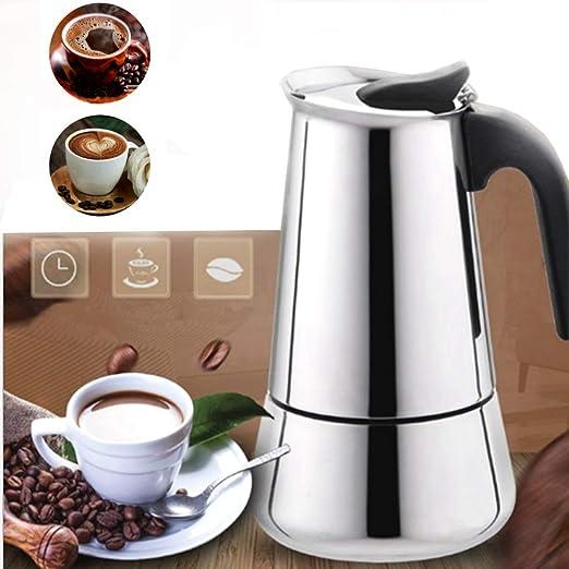 Cafetera espresso eléctrica de acero inoxidable, cafetera de ...