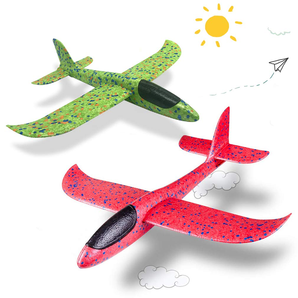 Birthday Gift for 4-14 Years Old Kids Teens,DIY Hand Throw Glider Planes for Children Foam Aircraft Model Toys Game Outdoor Games for 4-14 Years Old Kids