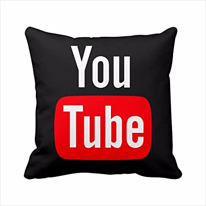 2 lados Youtube logo de la funda de almohada, funda de almohada de YouTube,