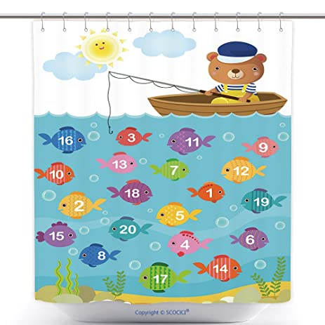 Amazon.com: Custom Shower Curtains Worksheet For Kindergarten Kids ...