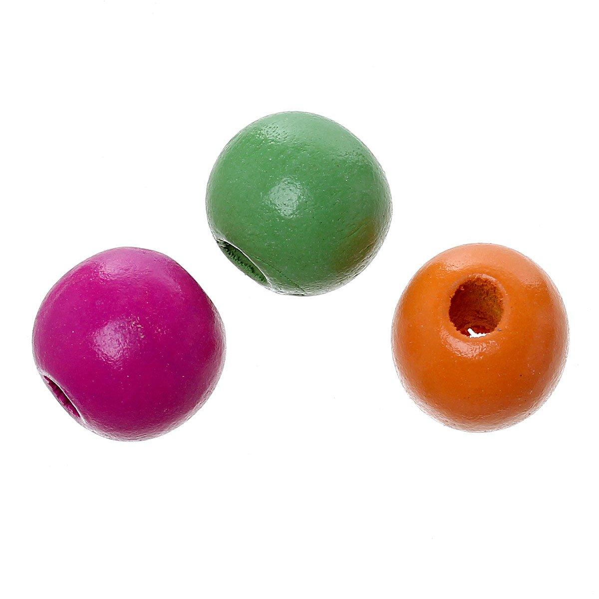 Manualidades Redondo SiAura Material 300/Unidades Madera de Arce Perlas 9/x 10/mm con 3/mm Orificio
