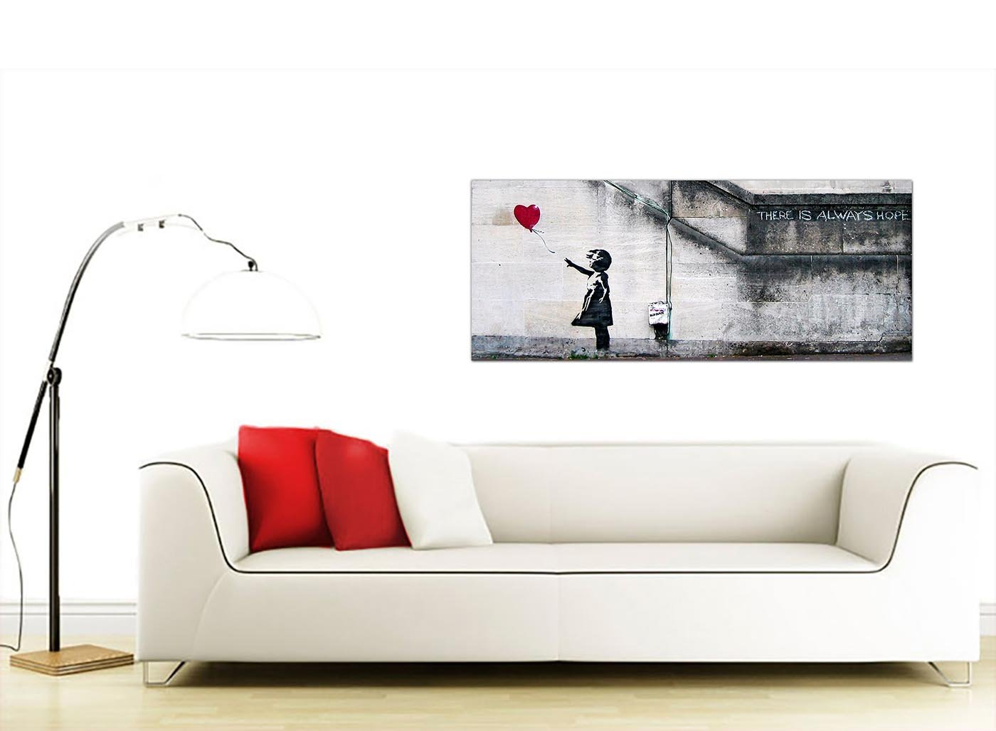 Large Canvas Prints Of Banksys Girl With The Red Balloon For Your Dining Room