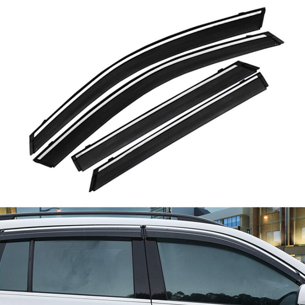 Windstop Black for Ford Focus II 2007-2015 Wind Blocker Foldable Wind Deflector with Quick Fastener