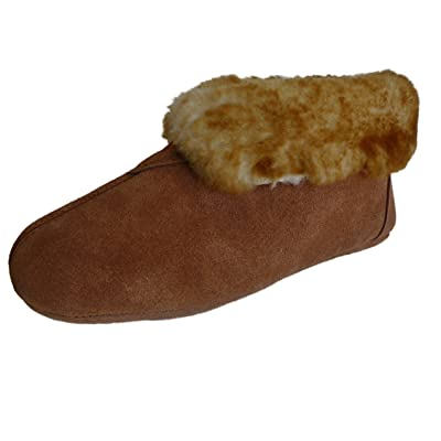 Amazon.com | 975-L10 - Woolworks Women's Australian Sheepskin Slippers - Soft Leather Sole | Ankle & Bootie