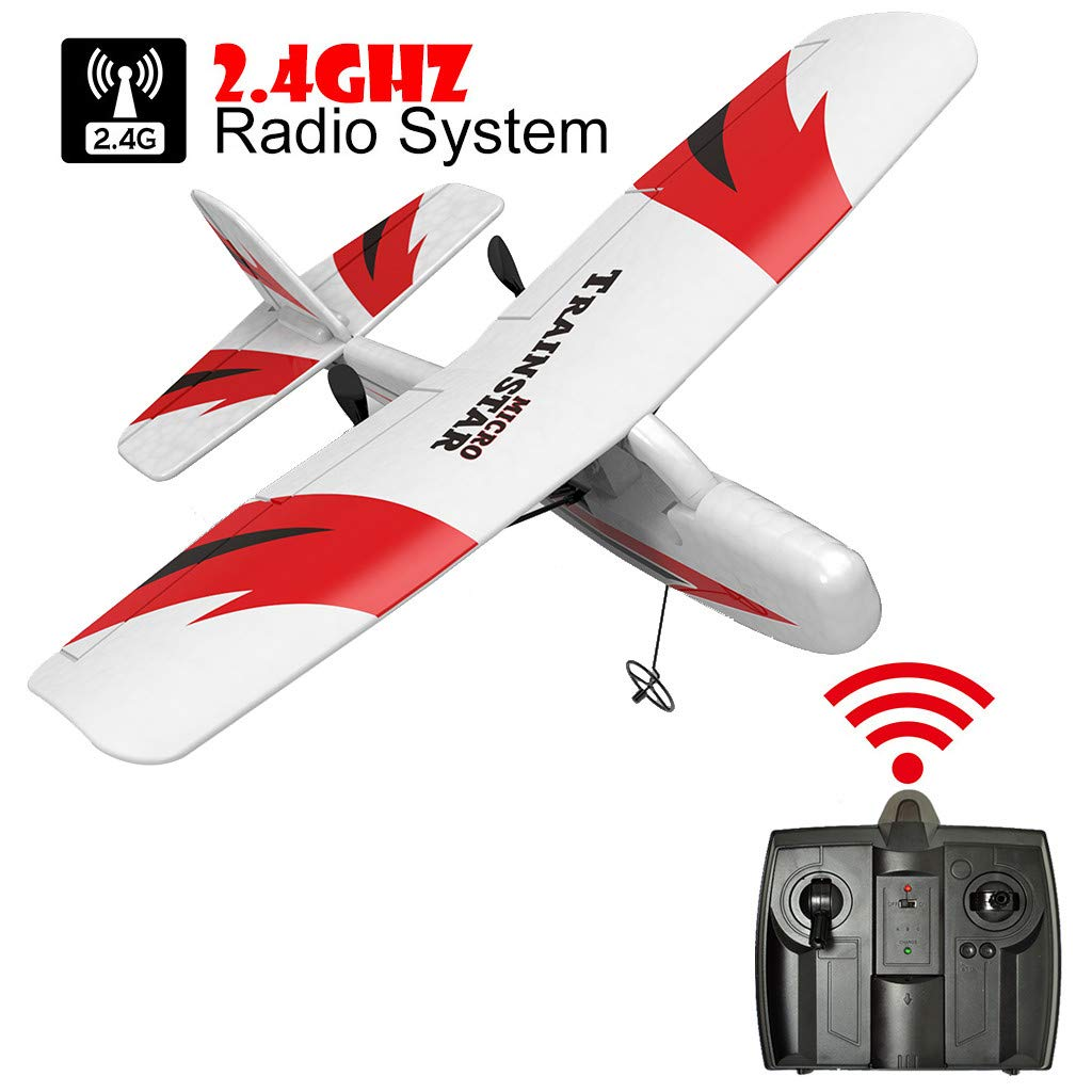 SYgerks RC Airplane Remote Control Airplane, 2.4GHz RC Plane Ready to Fly with 2.4GHz Control 3D/6G Mode Conversion, 6-Axis Gyro Easy to Fly for Beginners (White) by SYgerks (Image #7)