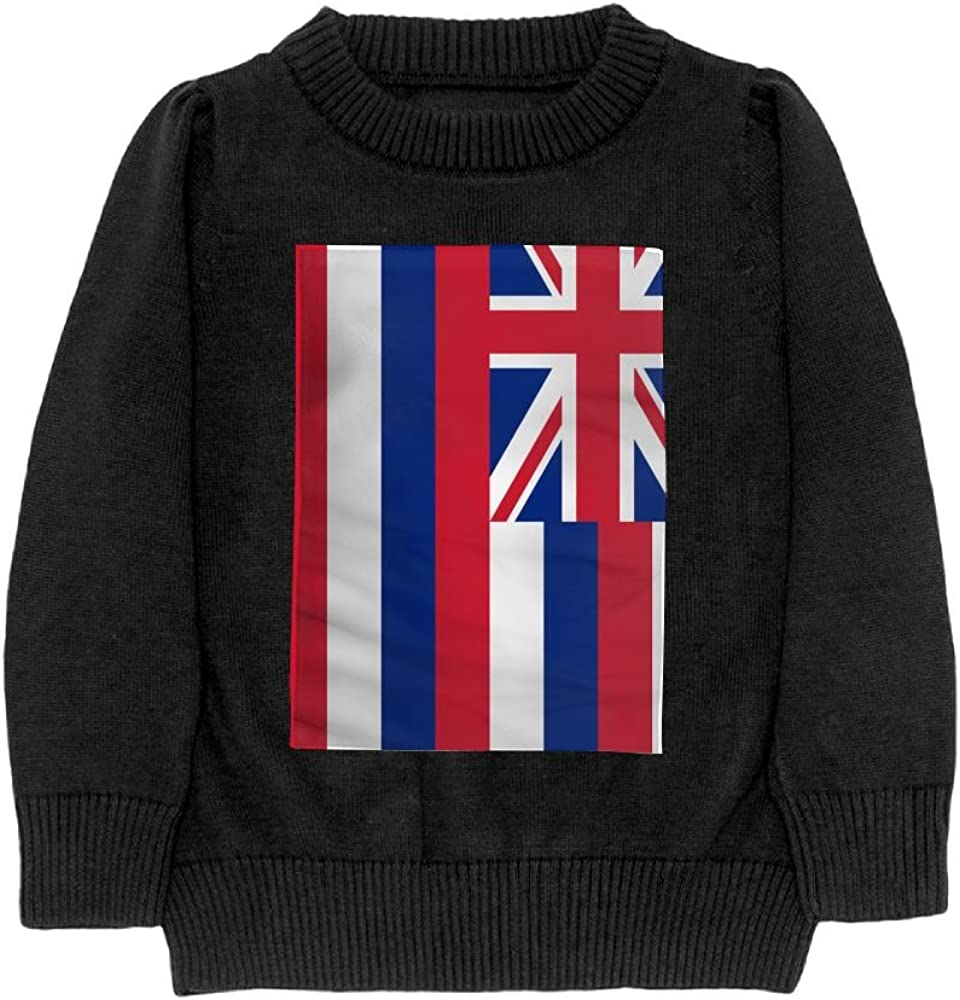 DTMN7 Flag Of Hawaii Teens Sweater Long Sleeves Crew-Neck Youth Athletic Casual Tee Junior Boys