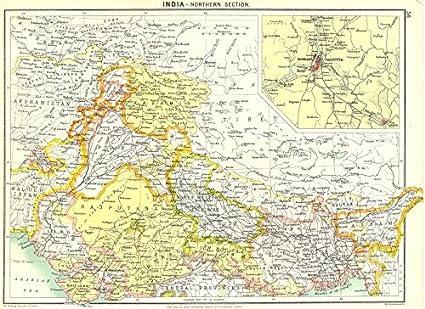 Amazon Com India North Howrah Kolkata 1900 Old Map Antique