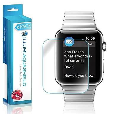 Apple Watch 42 mm Protector de pantalla [6 unidades],, Aquashield – Cobertura
