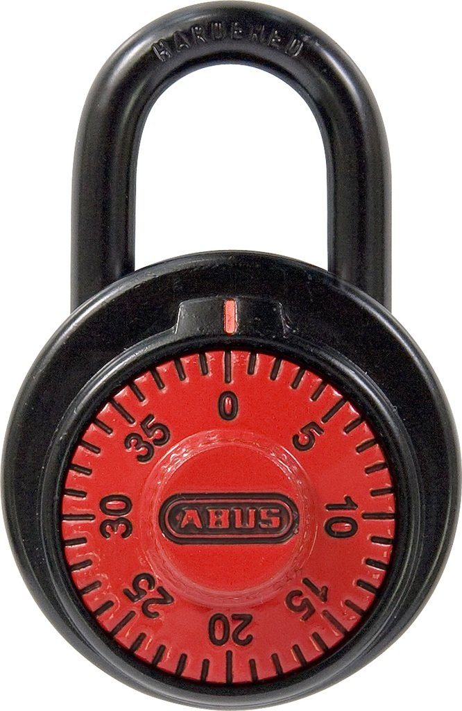 ABUS 78/50 KC B 507 2-Inch Locker Dial Combination Padlock, Red