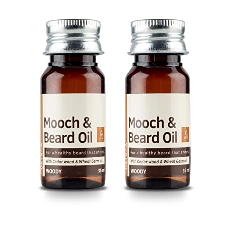 bf57b6c115 Ustraa Woody Mooch and Beard Oil - 35 ml (Set of 2)  Amazon.in  Health    Personal Care