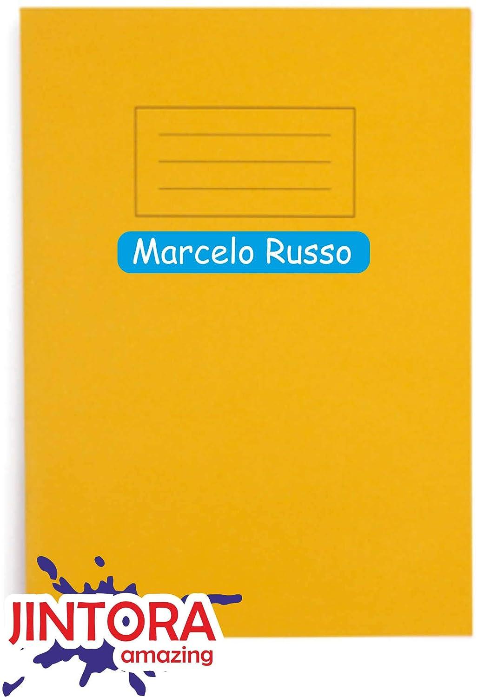 marcatura di oggetti JINTORA 54 Nome etichette adesive penne astucci righelli personalizzati impronta individuale scuola e scuola materna per bambini 60x10mm