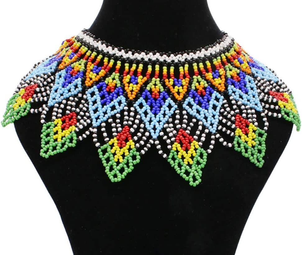 maasai necklace  beaded necklace  african necklace  colorful necklace  African Jewelry