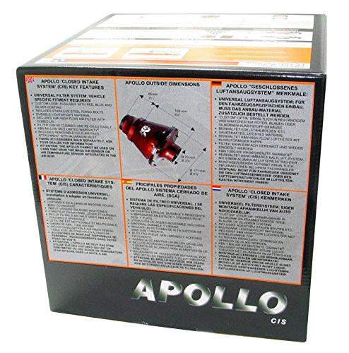K/&N RC-5052AB 70mm OD FLG PP Universal Apollo Black Cold Air Intake