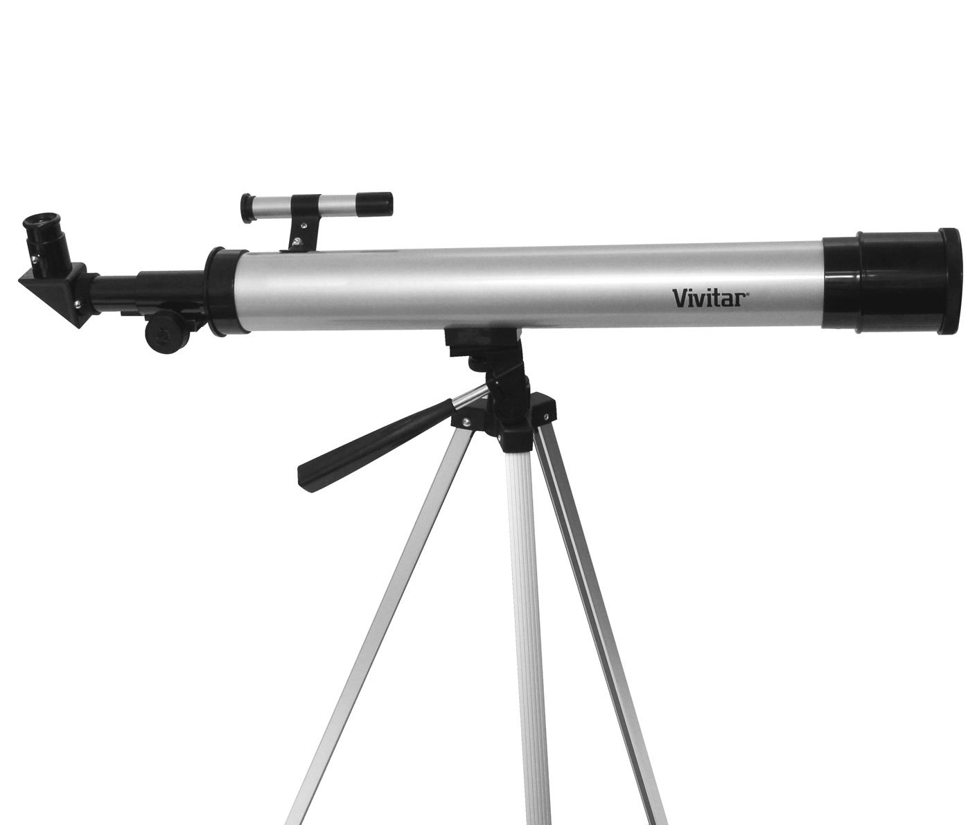 Vivitar TEL50600 60X/120X Telescope Refractor with Tripod (Black) by Vivitar