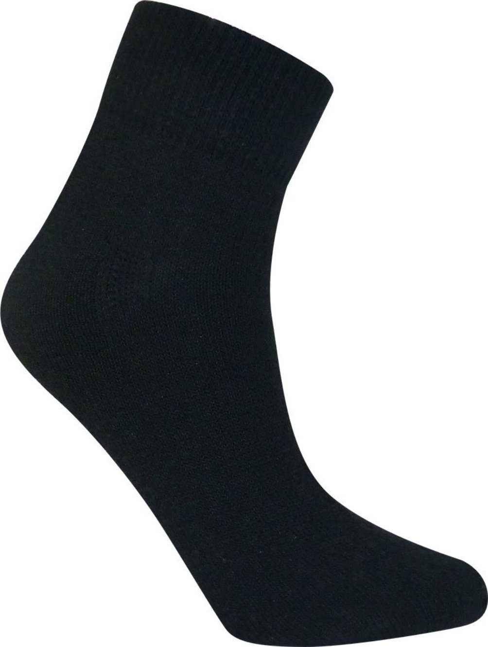 Davido Mens socks ankle/quarter made in italy 100% cotton 8 pairs (10-13, black)