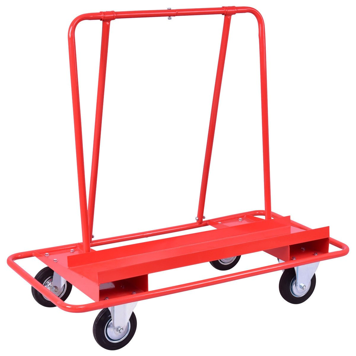 Red 47.3'' Steel Drywall Cart Dolly w/ 770 Lbs Capacity with Ebook by AyaMastro