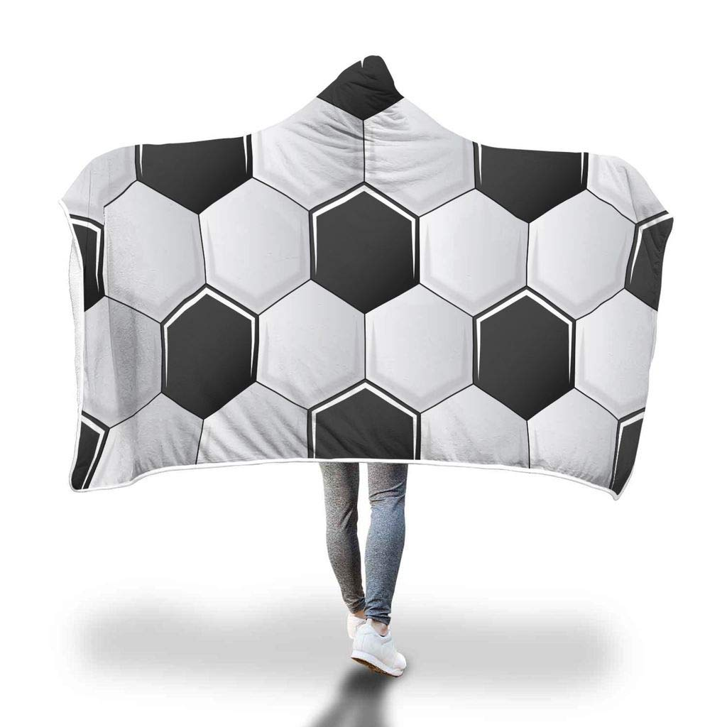 Awesome Fun Stuff Soccer Athlete Sports Hoodie Blanket for Kids Adult (Adult) WC Fulfillment