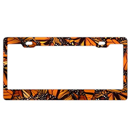 Monarch Butterfly Photo License Plate
