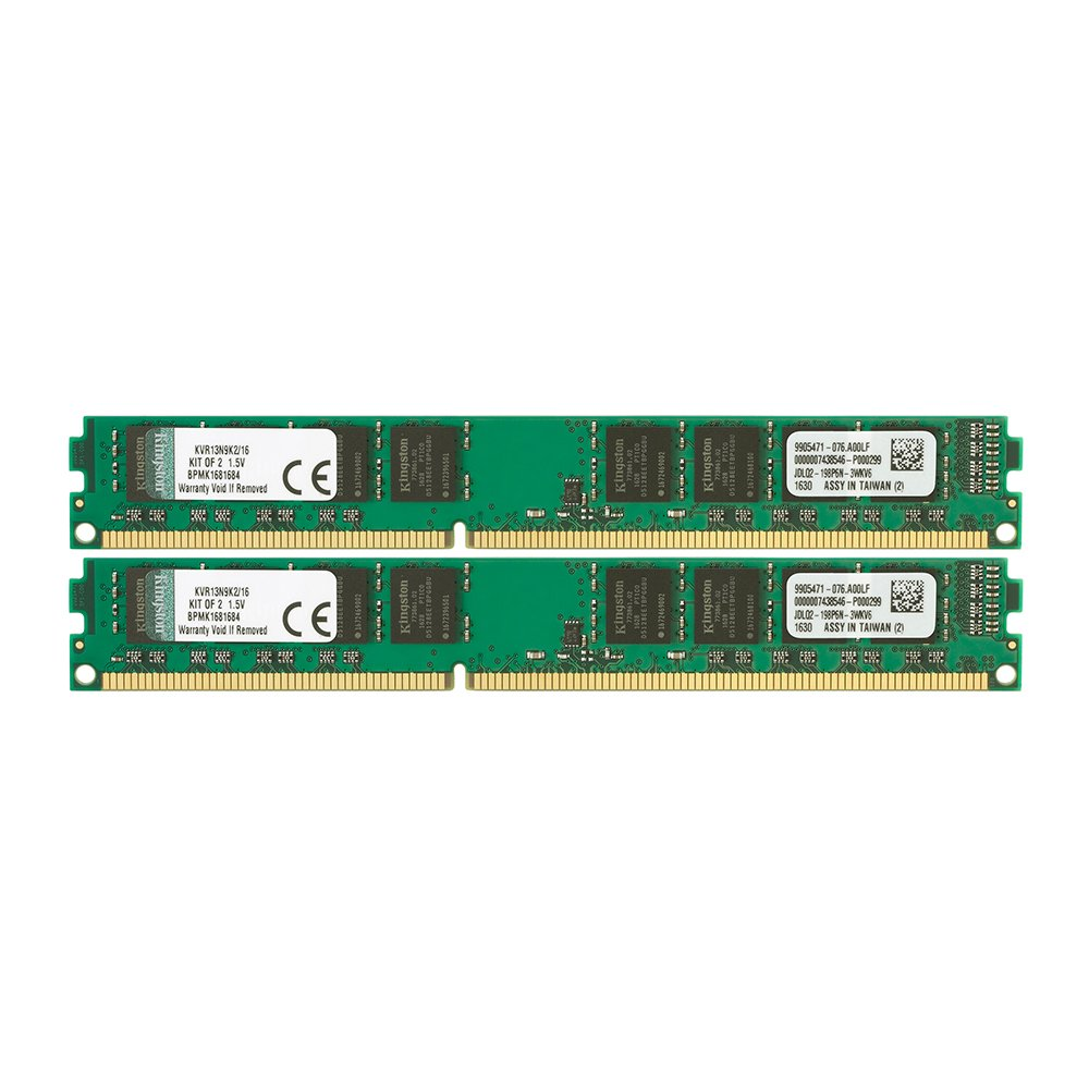 Kingston Technology ValueRAM 16 GB Kit of 2 (2x8 GB Modules) 1333MHz DDR3 PC3-10600 Non-ECC CL9 DIMM Motherboard Memory (KVR13N9K2/16)