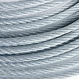 1/4'' 7000lb Galvanized Aircraft Cable Steel Wire Rope 7x19 (450 Feet)