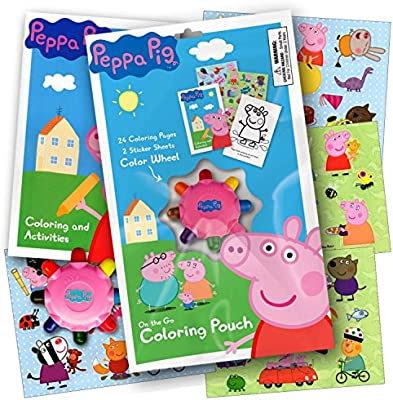 Amazon Com Peppa Pig On The Go Coloring Pouch Activity Set With