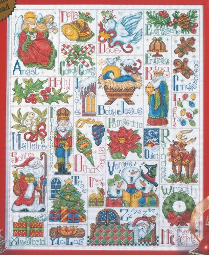 Cross Stitch kit - Abc Christmas Sampler (Alphabet Sampler Kit)